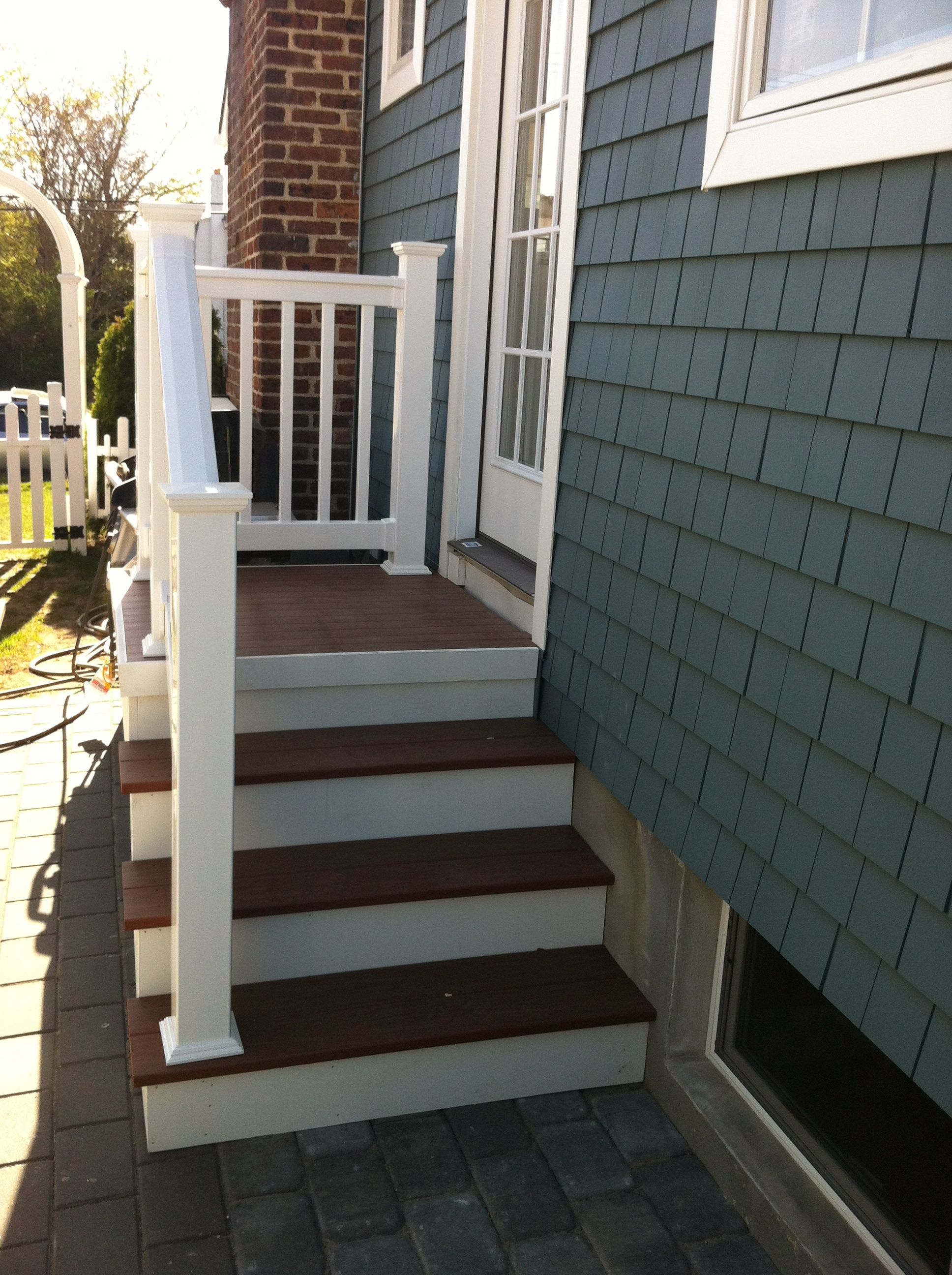 Outdoor Steps With Railing Side Entrance Backdoor Backyard Nj Carls for 13 Smart Tricks of How to Improve Backyard Steps Ideas