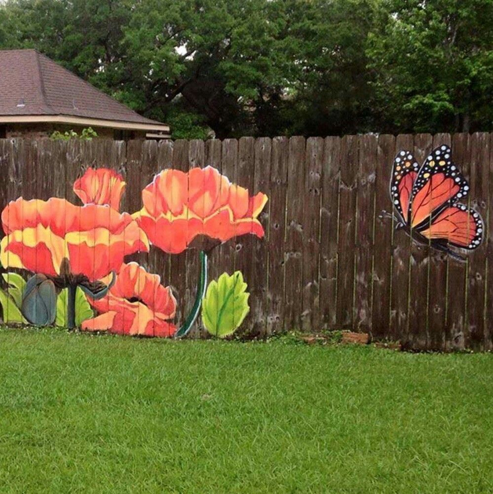 Paint A Picture On The Fence Privacy Fence Hub Garden Fence Art with regard to 11 Smart Ways How to Makeover Painting Backyard Fence