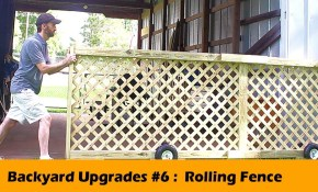 Rolling Fence Gate Diy Backyard Upgrades 6 Youtube in Gate For Backyard Fence