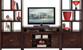 Ryder Espresso 3 Pc Door Pier Wall Unit Home Entertainment Dark Wood for Rooms To Go Living Room Set With Tv