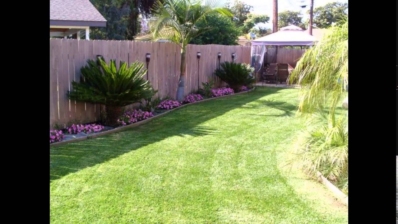 Small Backyard Ideas Small Backyard Landscaping Ideas Youtube in 14 Smart Initiatives of How to Makeover Backyard Lawn Ideas