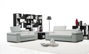 Soho White Leather Living Room Set 1stopbedrooms in White Leather Living Room Set