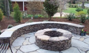 Stone Patio Fire Pit Ideas Awesome Indoor Outdoor regarding Backyard Rock Fire Pit Ideas