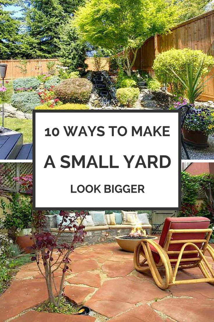 14 Ways To Make Your Small Yard Seem Big Home And Garden Small throughout Landscape For Small Backyards