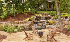 25 Pond Waterfall Designs And Ideas throughout 14 Genius Designs of How to Craft Backyard Waterfall Ideas