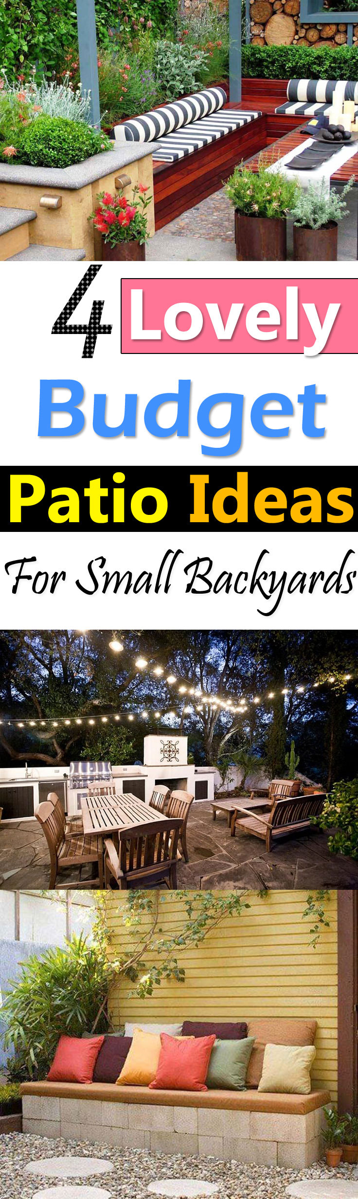 4 Lovely Budget Patio Ideas For Small Backyards Balcony Garden Web pertaining to Backyard Landscape Designs On A Budget
