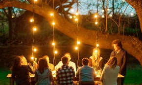 Accewit String Lights With 28 Globe Bulbs Backyard Party Lighting In for Backyard Party Lighting Ideas