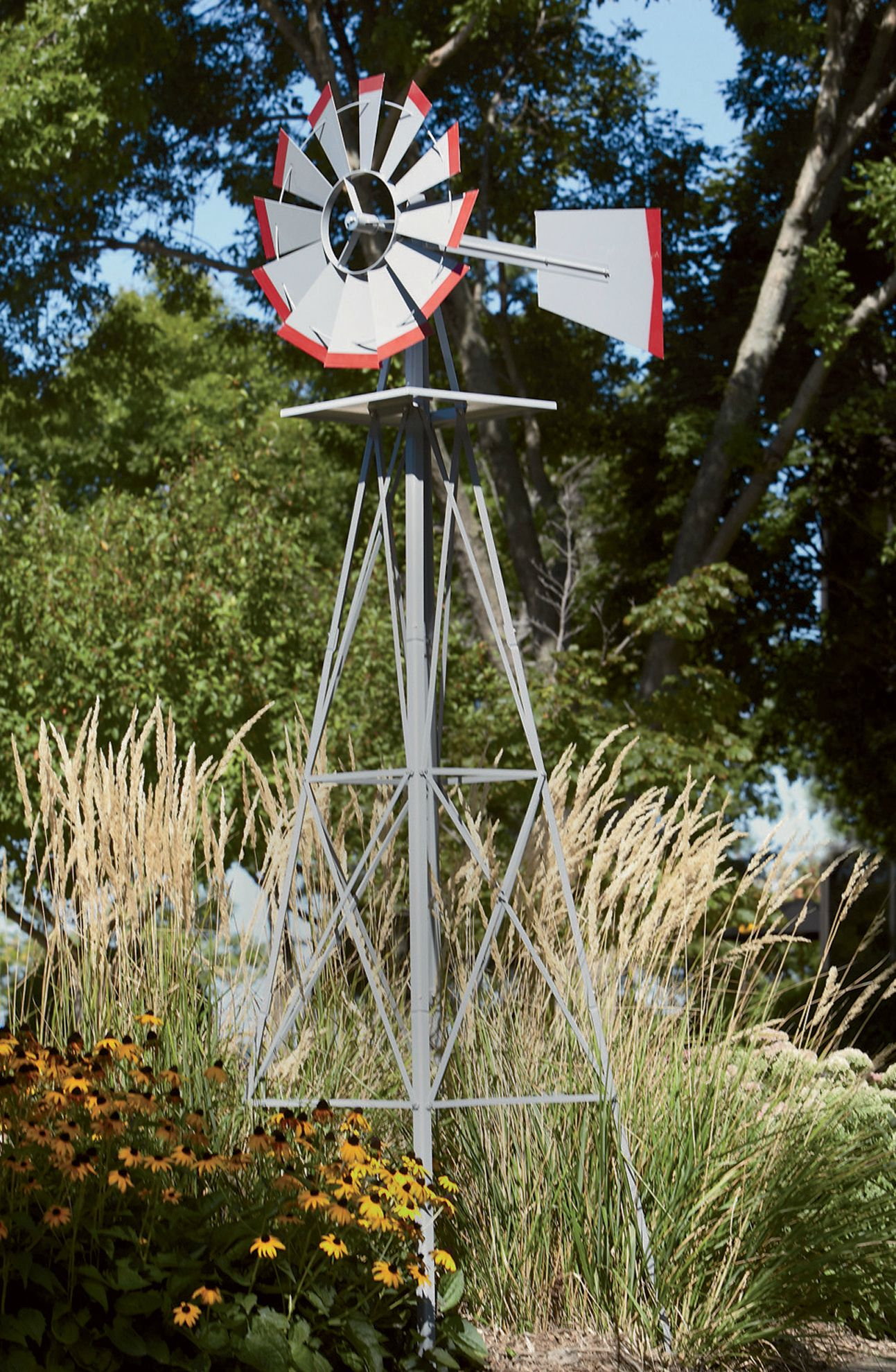 Add A Rustic Touch To Your Yard With A 8 Ft Tall Ornamental within Decorative Backyard Windmill