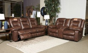 Ashley Furniture Golstone Power Recliner Living Room Set In Canyon for Ashley Leather Living Room Sets