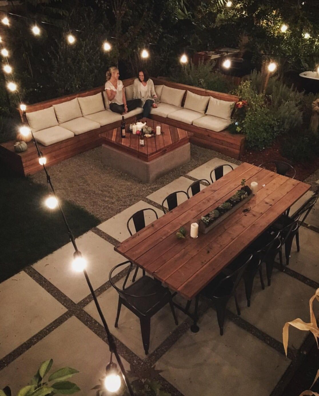Awesome Backyard Idea Cant Forget The Sectional Table And pertaining to 15 Awesome Initiatives of How to Craft Awesome Backyard Ideas