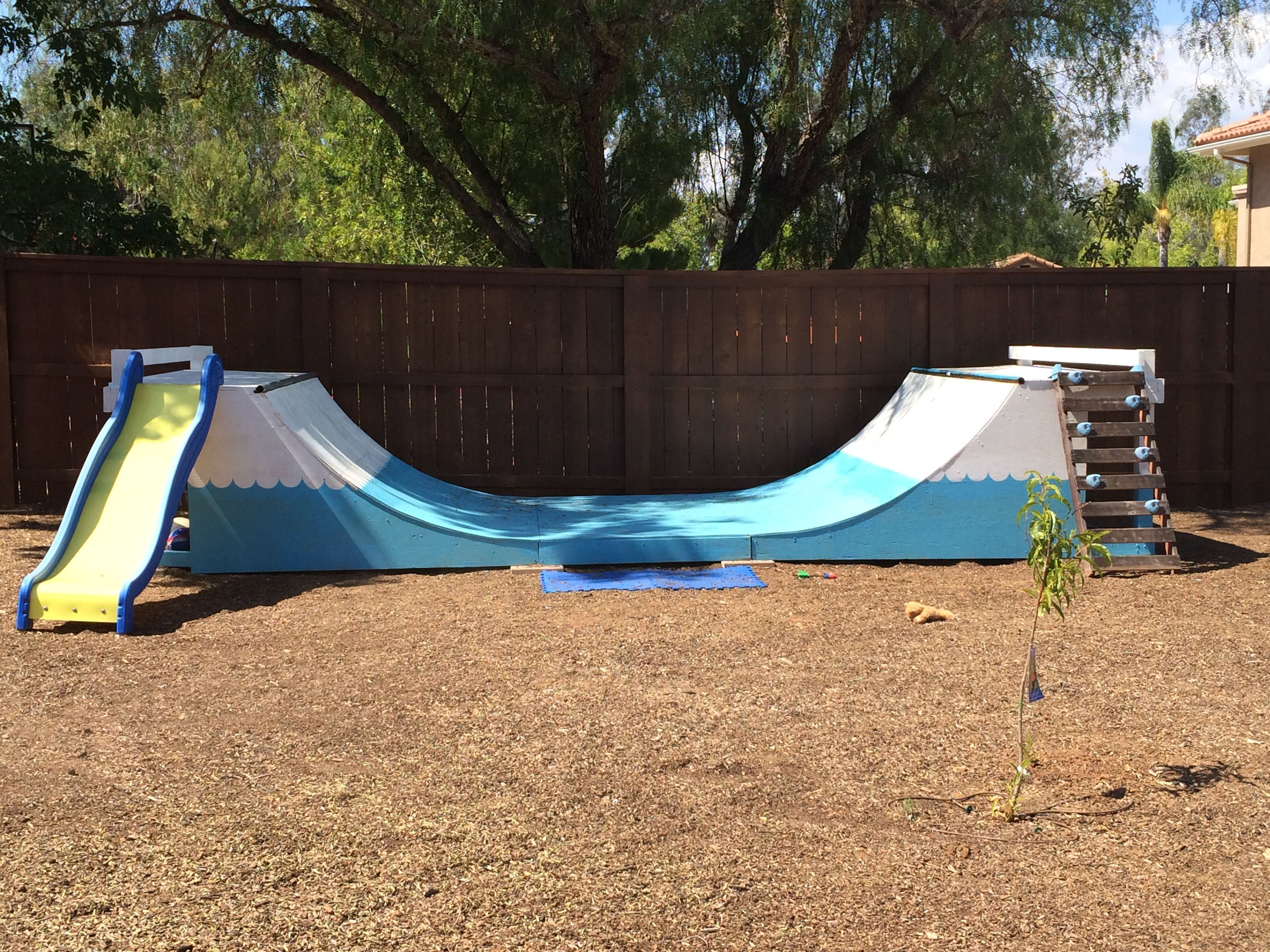 Backyard With Half Pipe The Perfect Gift For Children A Little throughout 11 Smart Initiatives of How to Build Backyard Skatepark Ideas
