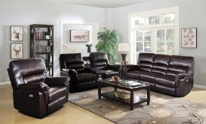 Dark Brown Power Living Room Set With Speaker Dark Brown Faux regarding 13 Awesome Ideas How to Upgrade Orange Living Room Set