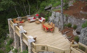 Deck Over Looking The Garden Garden In 2019 Sloped Backyard regarding Sloped Backyard Deck Ideas