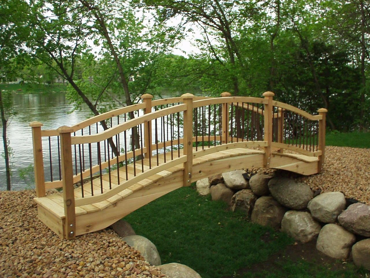 Garden Bridge Plans Home Decor Landscape Design Garden Ideas regarding Backyard Bridge Ideas