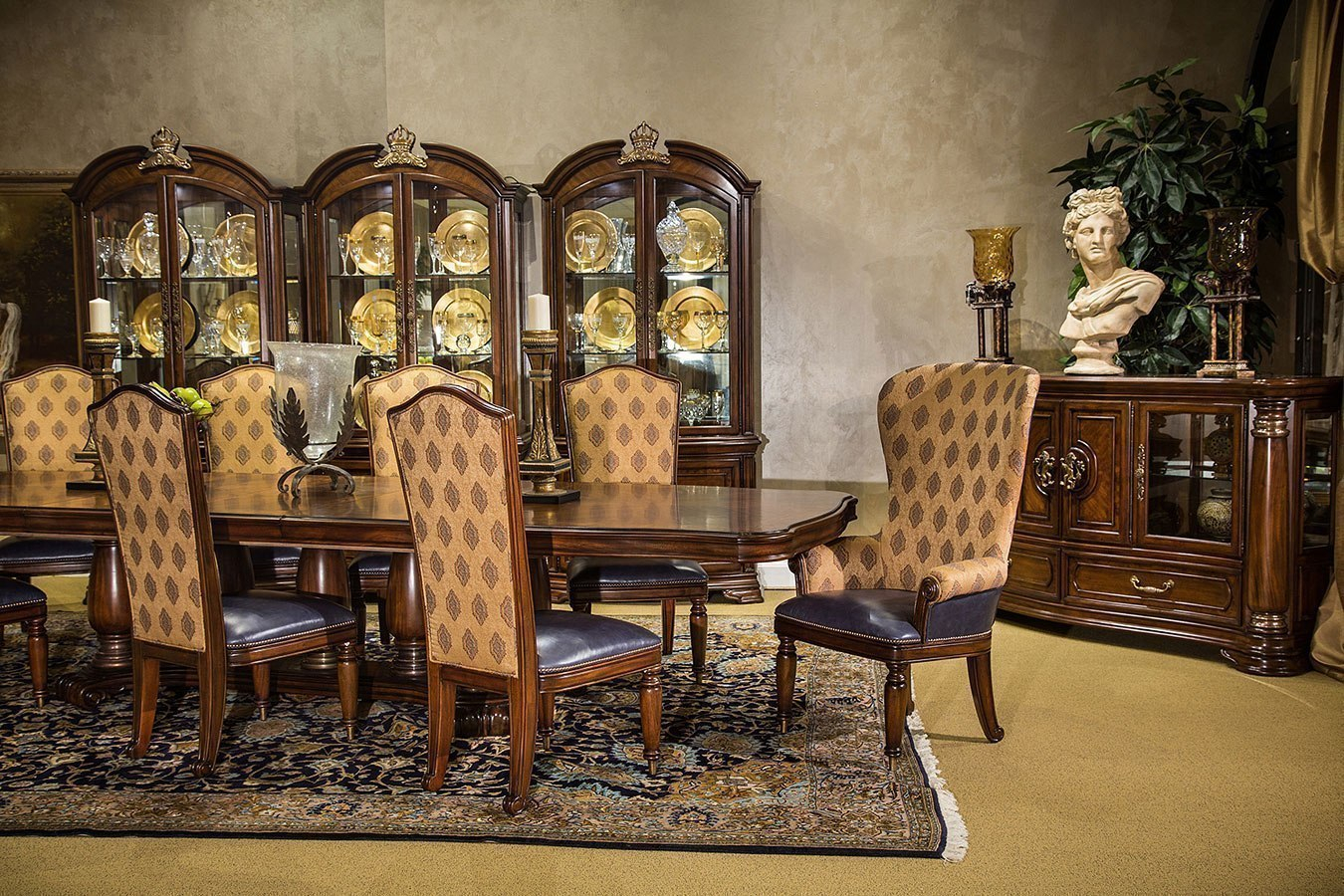 Grand Masterpiece Dining Room Set Aico Furniture Furniture Cart with regard to Aico Living Room Sets