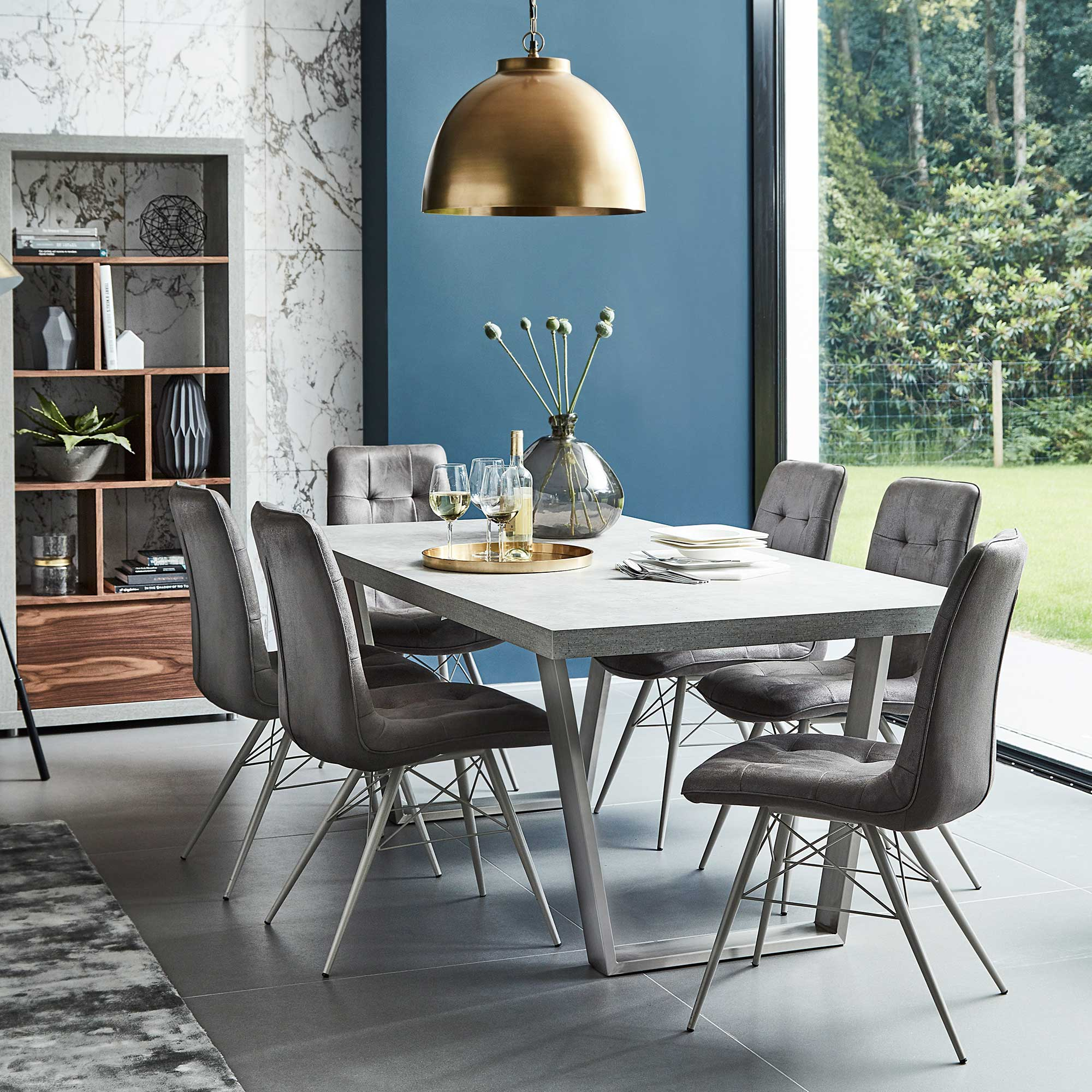 Halmstad Dining Table Concrete Tables Dining Room regarding 10 Clever Concepts of How to Upgrade Living Room And Dining Room Sets