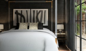 Hollywood Glam Bedroom With An Industrial Twist with Modern Glam Bedroom