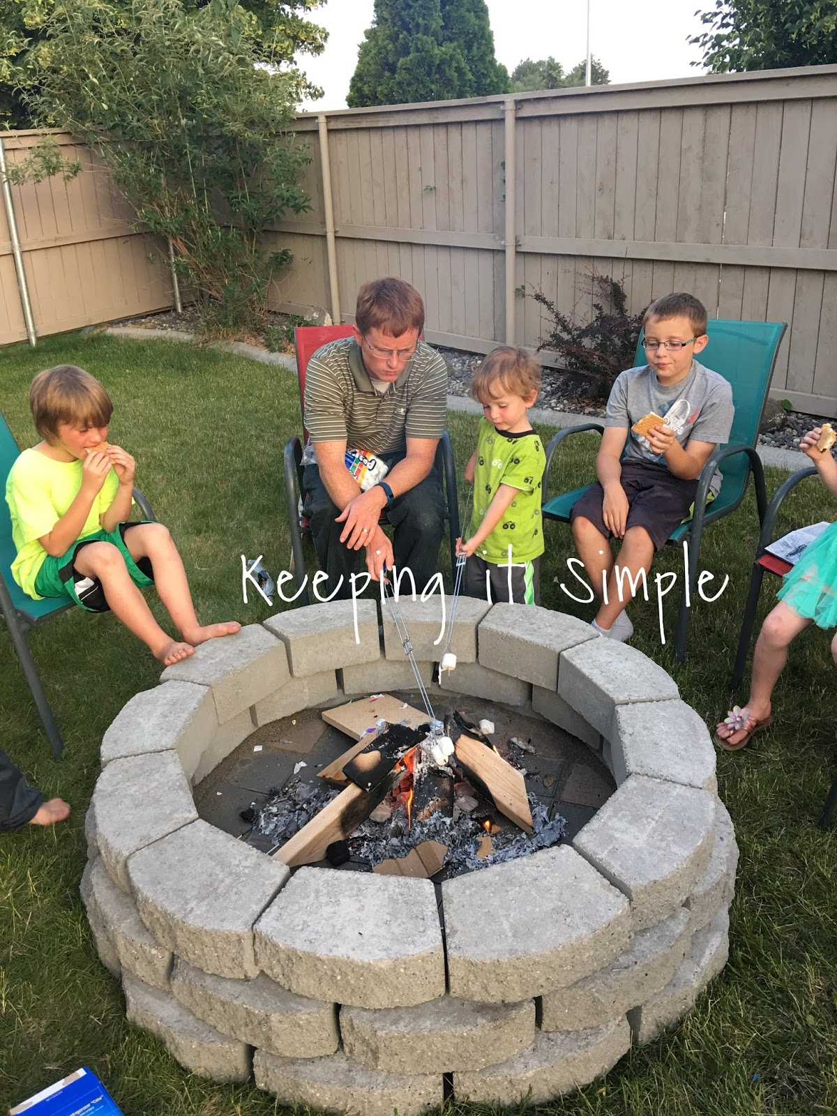 How To Build A Diy Fire Pit For Only 60 Keeping It Simple regarding Backyard Firepit Ideas