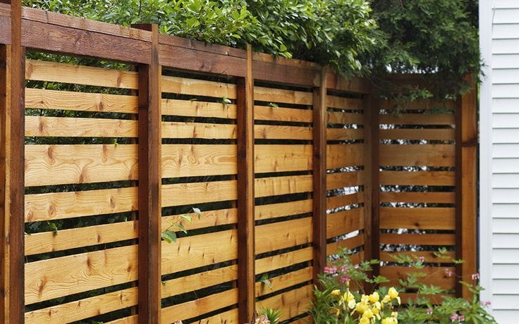If We Ever Have To Re Build Our Fence This Style Is Awesome regarding 13 Clever Concepts of How to Craft Privacy Fences For Backyards