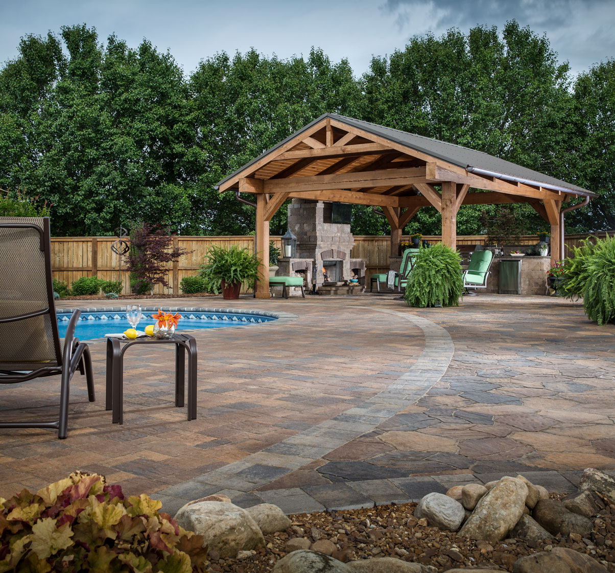 Paver Patio Ideas Backyard Design Stone Patio Pictures in 11 Smart Initiatives of How to Craft Backyard Stone Patio Design Ideas