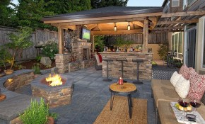 Pin Southwest Boulder Stone On Outdoor Living Room Backyard intended for 10 Clever Initiatives of How to Improve Backyard Living Ideas