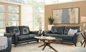 Salviano Blue Leather 3 Pc Living Room Leather Living Rooms Blue pertaining to 15 Smart Tricks of How to Make 3 Pc's Leather Living Room Set