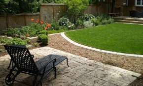 Small Landscaping Ideas Backyard Back Yard On A Budget Rectangular pertaining to Landscaping Small Backyards Townhouse