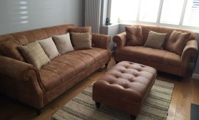 Tan Leather Sofa Grey Walls Natural Rug Living Room White Shutter with Tan Leather Living Room Set
