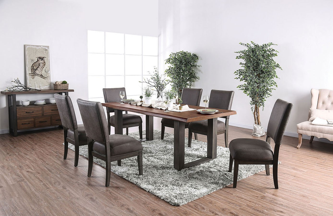 Tolstoy 82 Inch Dining Room Set Furniture Of America Furniturepick with regard to 10 Clever Concepts of How to Upgrade Living Room And Dining Room Sets