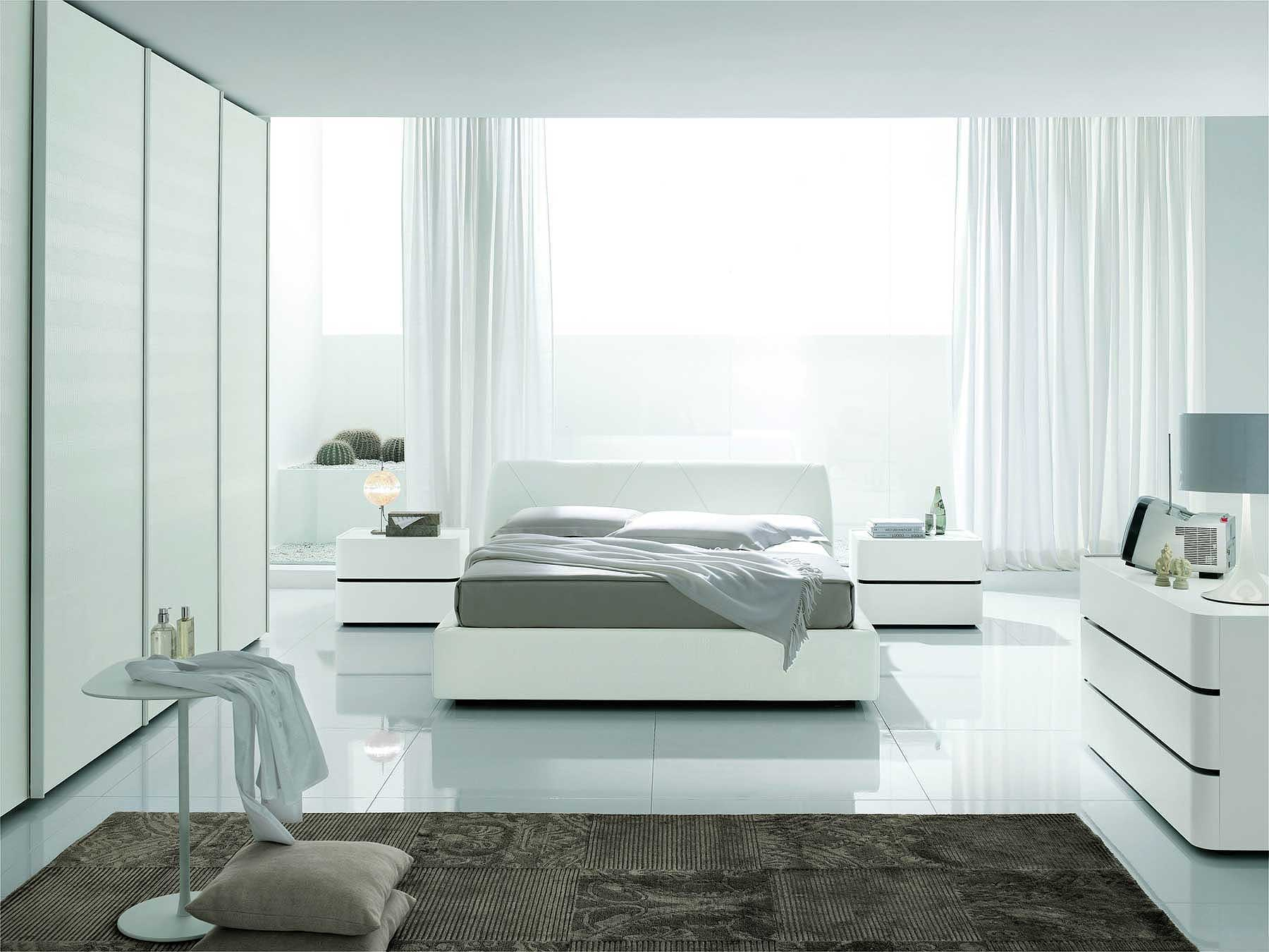 White Modern Bedding 6224 for 15 Awesome Designs of How to Makeover All White Modern Bedroom