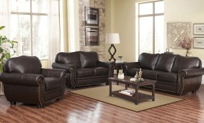 World Menagerie Hotchkiss 3 Piece Leather Living Room Set Reviews with Leather Living Room Sets