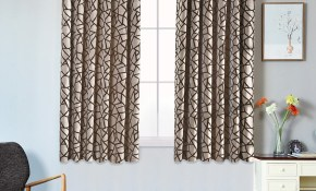 1 Piece Short Semi Blackout Curtains Bedroom Window Modern Curtain Ready Made Living Room Kitchen Window Grommet Top Treatments for 11 Smart Initiatives of How to Make Modern Window Treatments For Bedroom