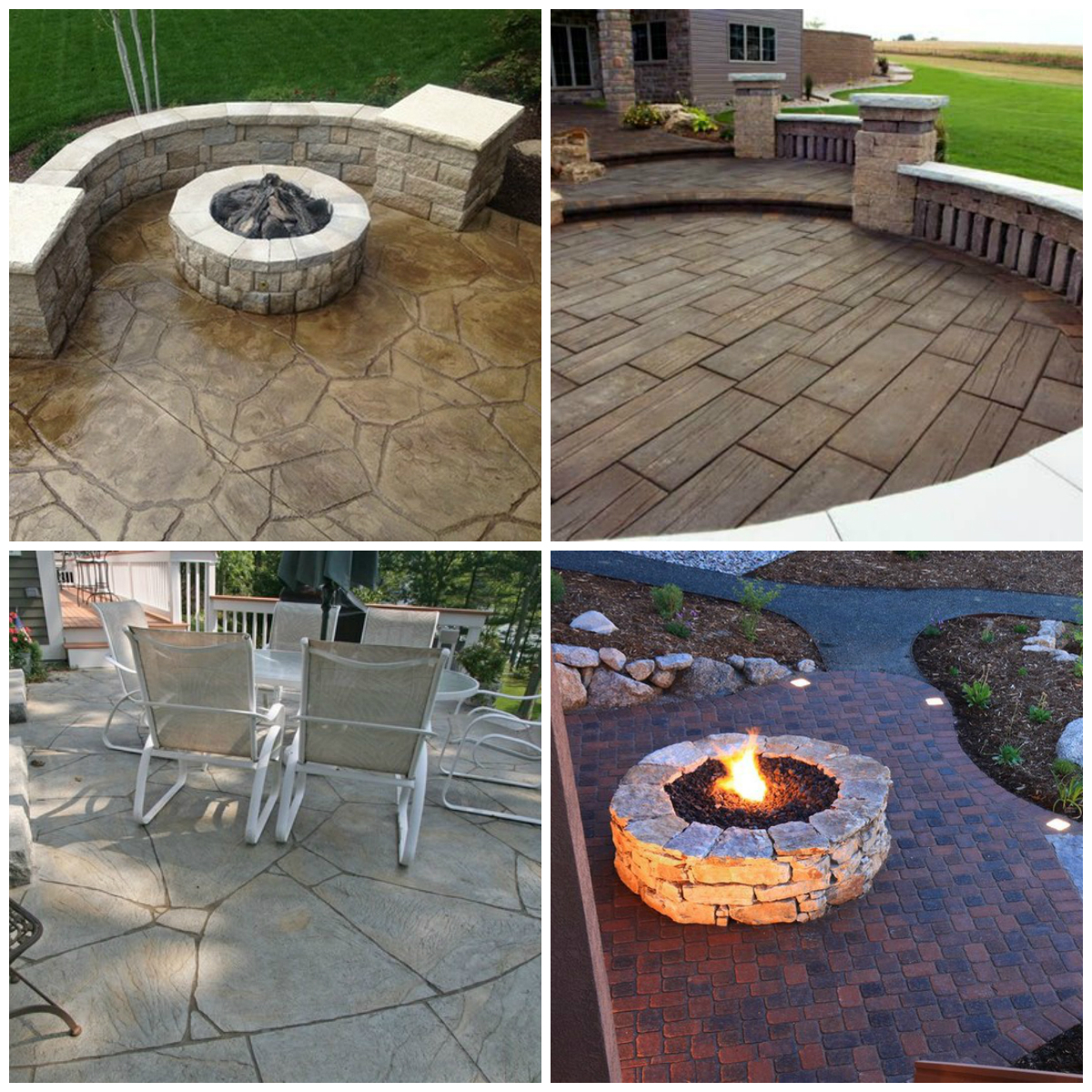 24 Amazing Stamped Concrete Patio Design Ideas Remodeling Expense for Backyard Concrete Ideas