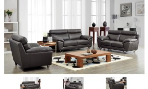 3 Pc Leather Living Room Set within Leather Living Room Sets For Sale