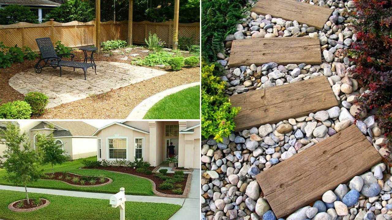35 Easy Simple And Cheap Landscape Ideas For Front Yard Garden Ideas in 13 Smart Initiatives of How to Make Backyard Landscape Design Ideas On A Budget