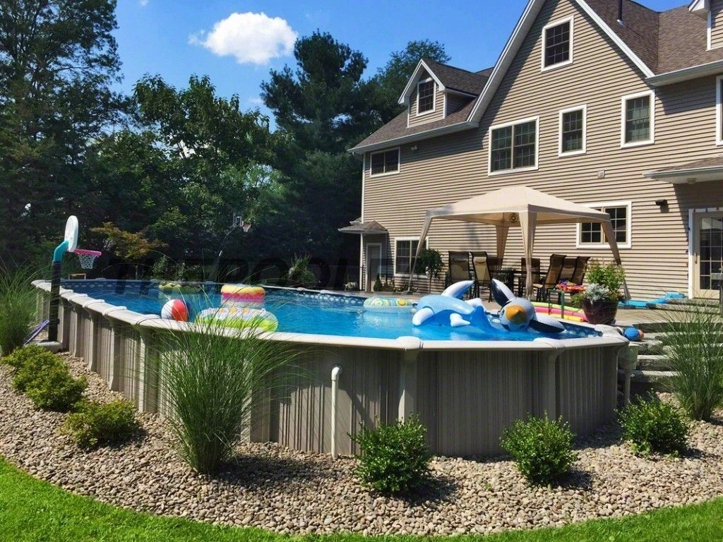 Above Ground Pool Landscaping Ideas Randolph Indoor And Outdoor Design regarding 12 Smart Ideas How to Upgrade Backyard Landscaping With Above Ground Pool