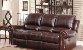 Abson Broadway Top Grain Leather Reclining 3 Piece Living Room Set with regard to Very Cheap Living Room Sets