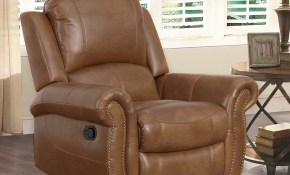 Abson Skyler Cognac 2 Piece Leather Reclining Living Room Set with regard to Recliner Living Room Sets
