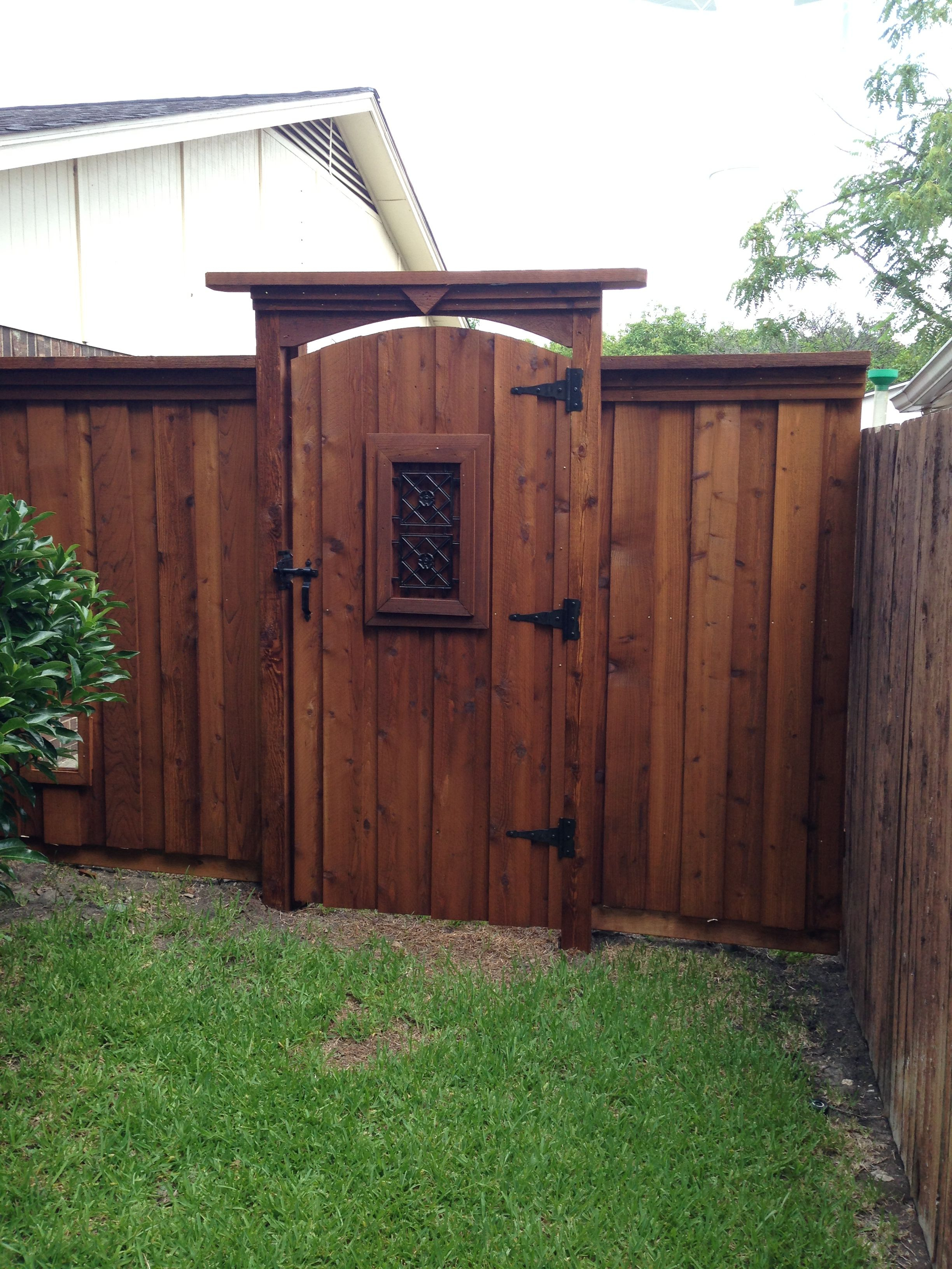 Arched Gate Tall Header Fences In 2019 Fence Gate Wood Fence throughout Backyard Fence Gate