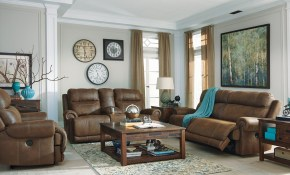 Ashley Furniture Austere Reclining Power Living Room Set In Brown within Deals On Living Room Sets