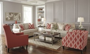 Ashley Furniture Sansimeon Livingroom Set In Cinnamon with Ashley Living Room Set
