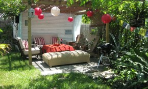 Backyard Decorating Ideas Project For Awesome Image Inexpensive throughout Backyard Decorating