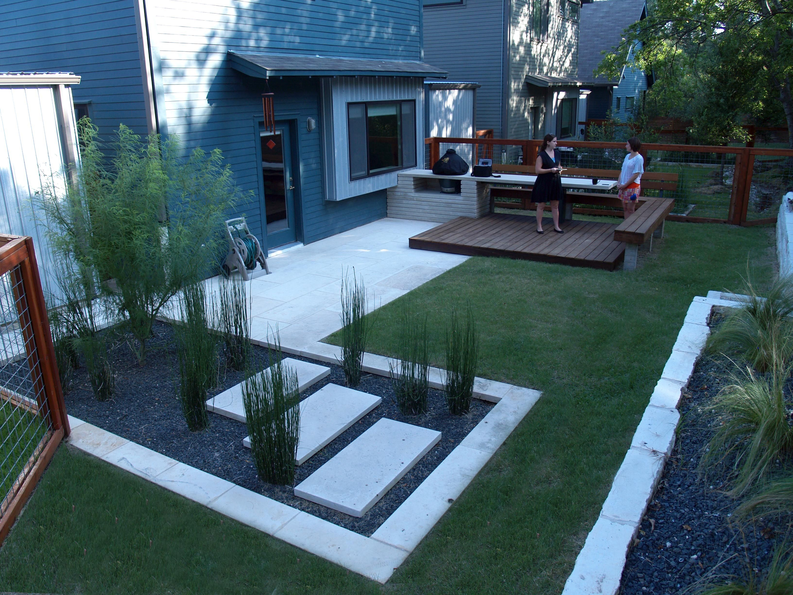 Backyard Design With Kitchen Dining And Living Modern Small Backyard throughout 10 Clever Initiatives of How to Build Contemporary Backyard Ideas