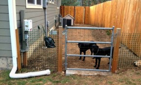 Backyard Dog Fence Ducksdailyblog Fence How To Use Temporary Dog pertaining to Backyard Fence For Dogs