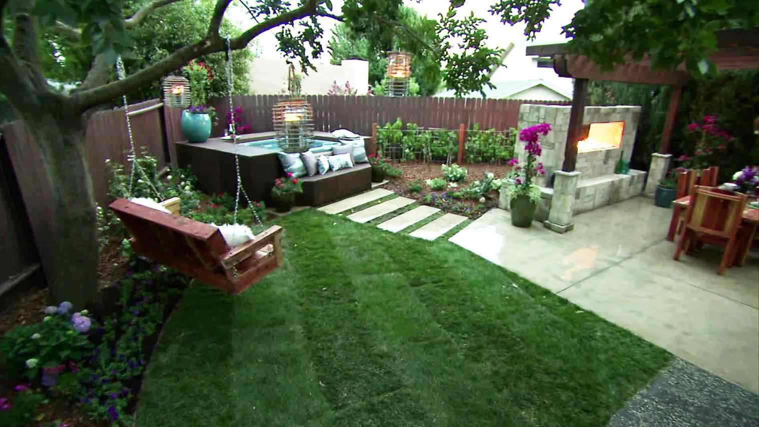 Backyard Landscaping Ideas With Hot Tub Fleagorcom Fire Simple Back inside Backyard Ideas With Hot Tub