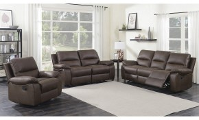 Best Buy Furniture And Mattress Barbara Chocolate Manual Motion 3 with 3 Piece Living Room Sets