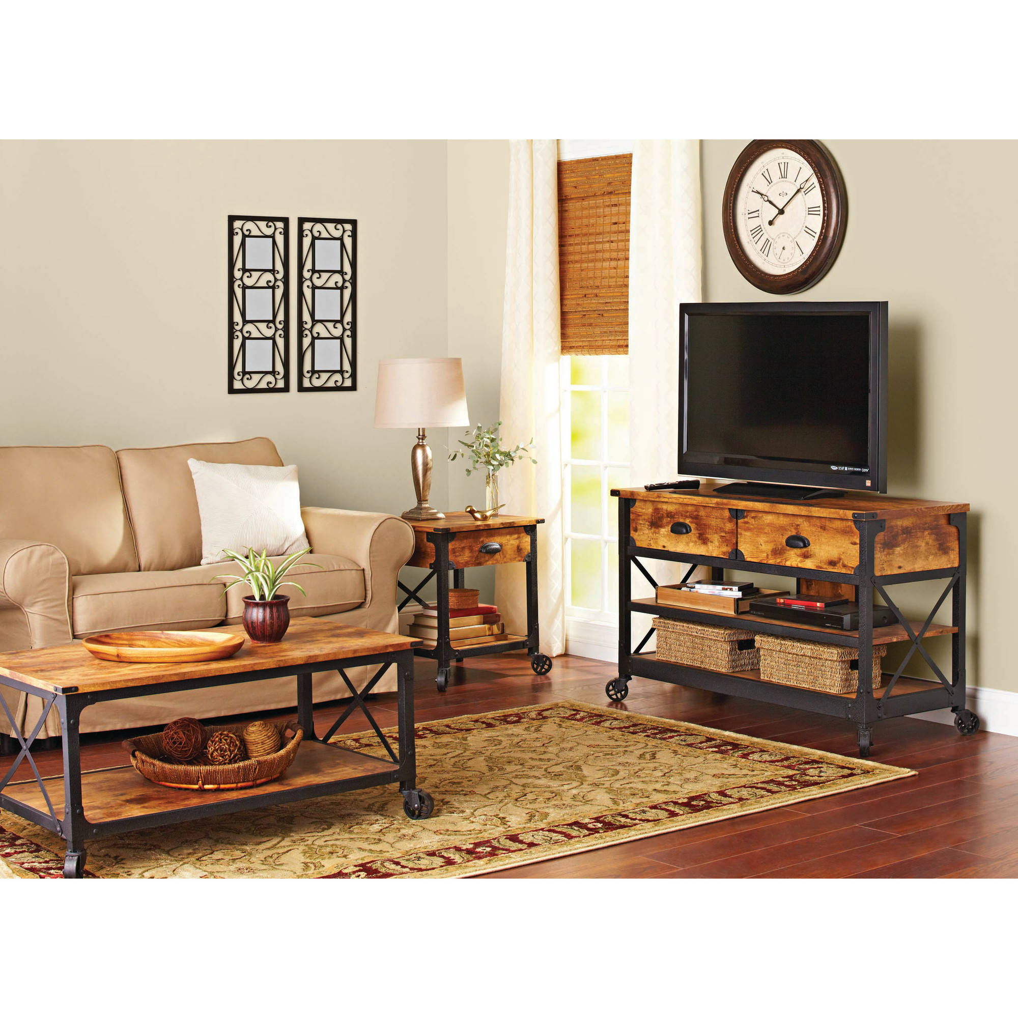 Better Homes And Gardens Rustic Country Living Room Set Walmart pertaining to Walmart Living Room Sets