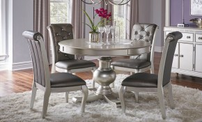 Buy Hefner Platinum 5 Pc Dining Room Part Badcock More pertaining to Badcock Living Room Sets