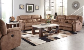 Carrington Lay Flat Reclining Living Room Set Silt pertaining to Suede Living Room Sets