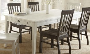 Cottonville White Wooden 80 Inch Farmhouse Storage Dining Table Greyson Living Antique White intended for 13 Some of the Coolest Ways How to Build Wooden Living Room Set